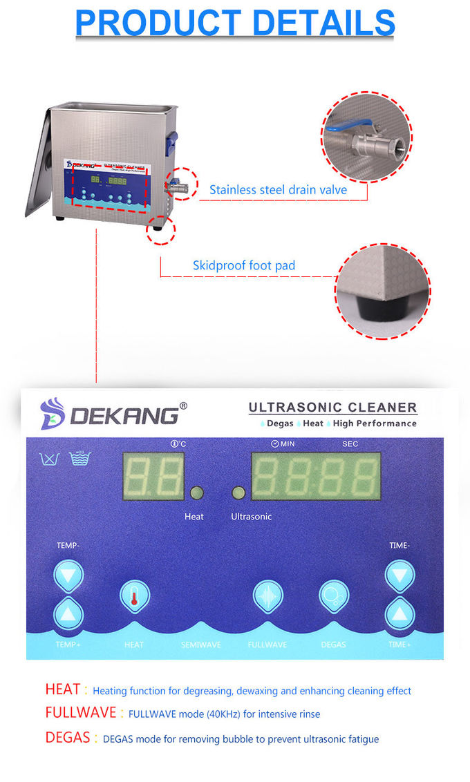 Ultraschallreiniger 40KHz Digital, industrielle Behälter der Ultraschallreinigungs-10L